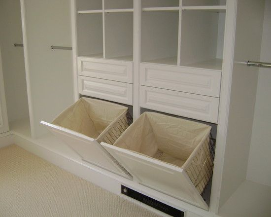 Exciting Custom Linen Cabinet With Hamper: Traditional Closet Dirty Linen Cabinet Hampers With Removable Liners Make Laundry Collection Easy ~ zamfohr.org Bathroom Inspiration