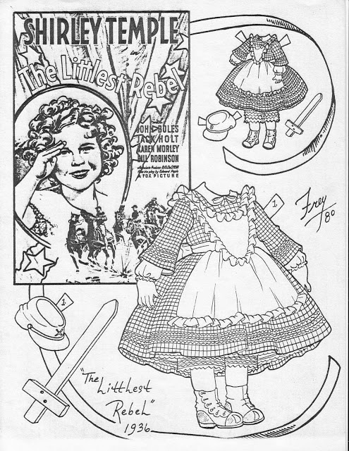 132 best shirley temple paper dolls images on Pinterest Shirley