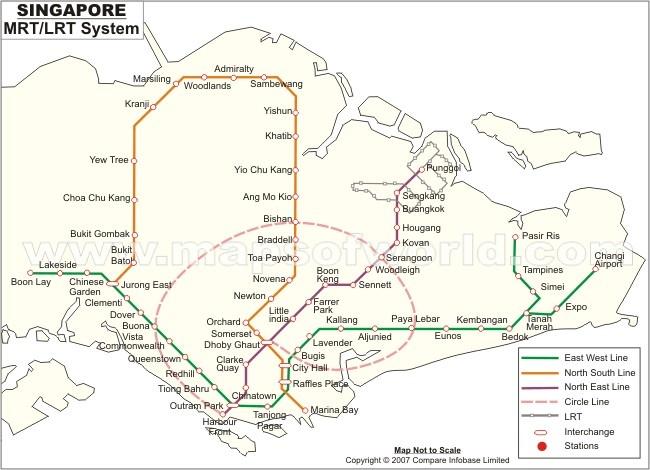 Singapore MRT-LRT metro system