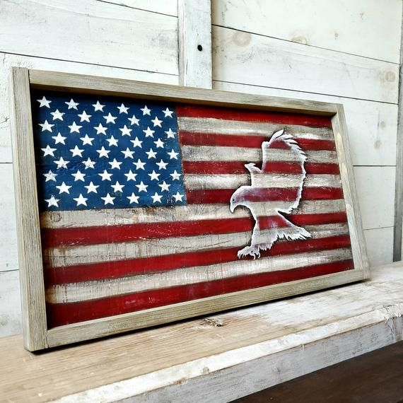 RUSTIC AMERICAN FLAG Decor, reclaimed wood wall art, patriotic decor, military decor, rustic wall decor, rustic wood flag, rustic home decor