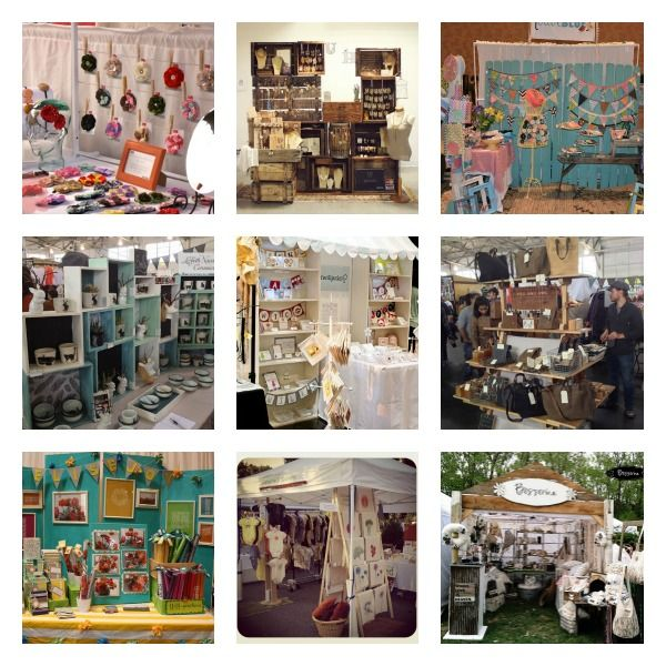 Booths1 Craft Fair Booth spiration - great examples of craft booths on creativeincomeblog.com