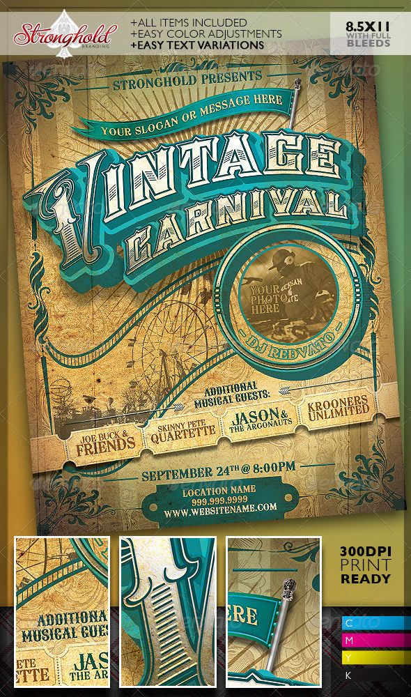 140 best Vintage Flyers images on Pinterest Flyer design, Font - event flyer templates