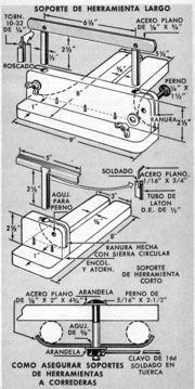 Hace tu propio Torno[/align] sencillo tomo para madera está provisto de un motor de 1/4 hp. y su plato tiene una capacidad de aproximadamente 8 1/2&q...