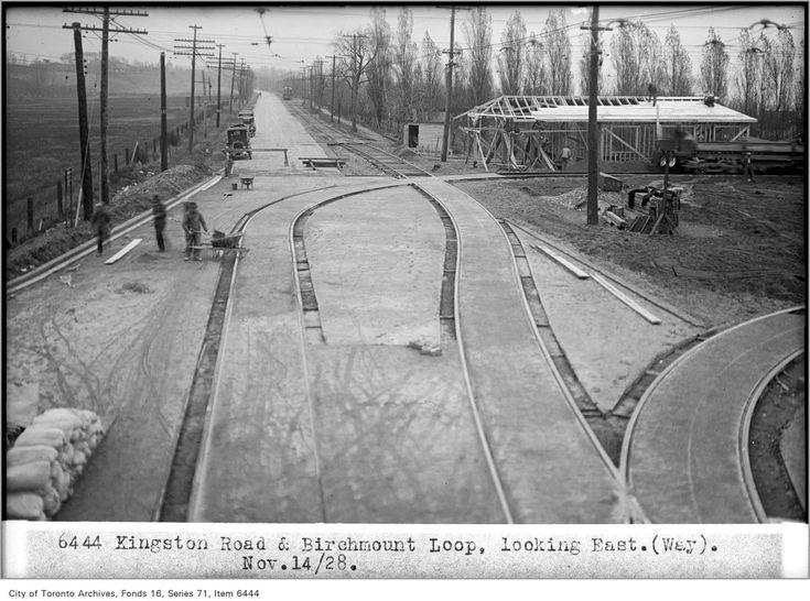 Kingston Road and Birchmount Loop, looking east c1928 Toronto