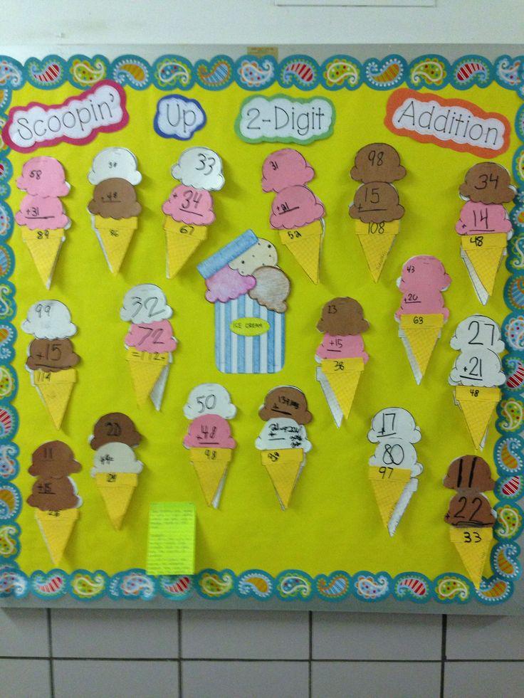 Classroom Ideas Grade 2 : Digit addition bulletin board boards