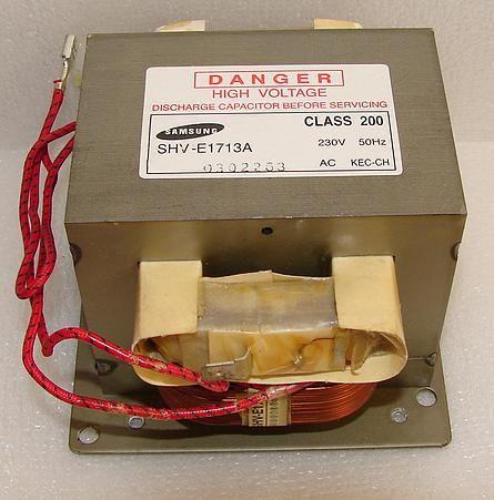 Трансформатор высоковольтный для СВЧ-печи SAMSUNG TRANS-H.V. SHV-E1713A, 230V, 2290 / 3,45V, 50HZ Партномер DE26-00059A