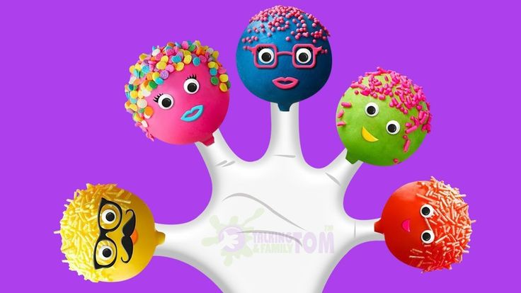 Cake Pop Finger Family Rhyme - Finger Family Songs Collection - Finger F...