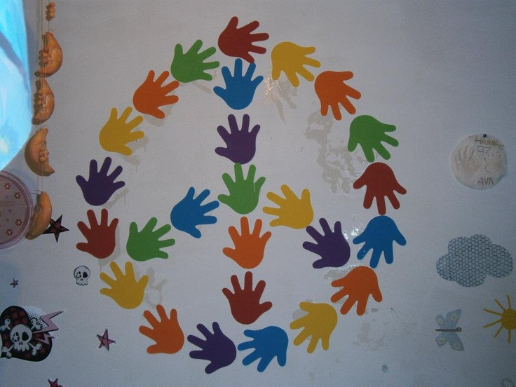 hand in hand peace symbol