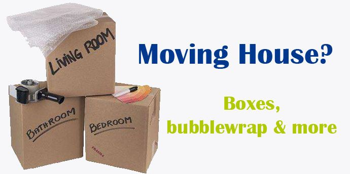 Moving House? Need boxes, bubblewrap, tape and other house moving supplies - find them all at www.boxdepot.ie
