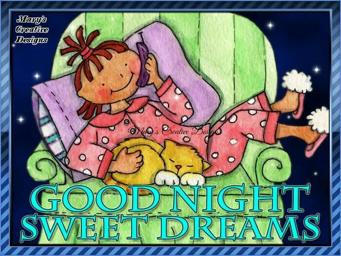 Rest Well Friends!! From Annette & Willine!! God Bless!!