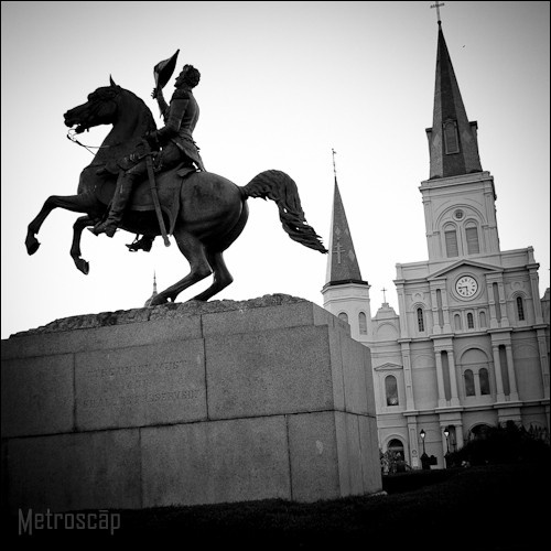 Black and White Photos of Jackson Square and St Louis Cathedral - Metroscap.com: Spaces, New Orleans, Favorite Places, White Photo, Jackson Squares, St. Louis