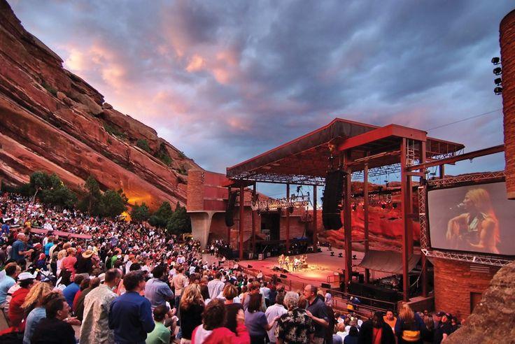 Gig at red rocks theatre, Denver