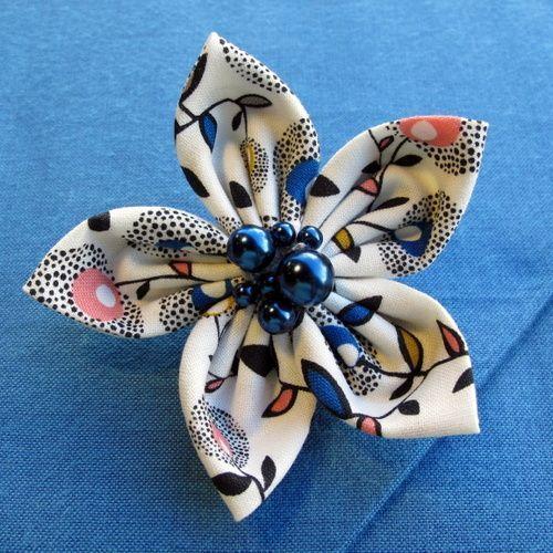 Tutoriel couture : broche Clématite