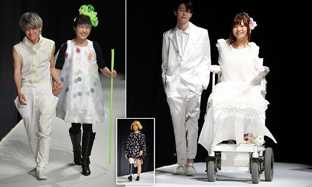 Chance of a lifetime. This is amazing! disabled models take to the cat walk in wheelchairs in Toykyo