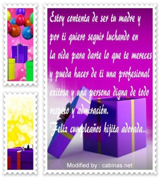 Frases De Cumpleaños Para Una Hija Poemas De Cumpleaños Cumpleaños Hijo Pensamiento De Cumpleaños