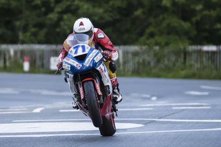 Mark Goodings on his Kawasaki 600