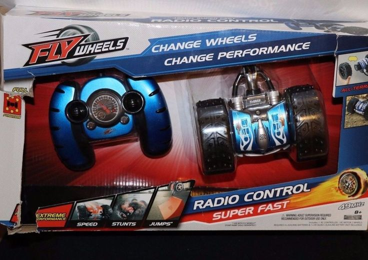 JAKKS REMOTE CONTROL RC FLY WHEELS STUNT VEHICLE BLUE NEW RACE CAR WHEEL #JAKKSPacific