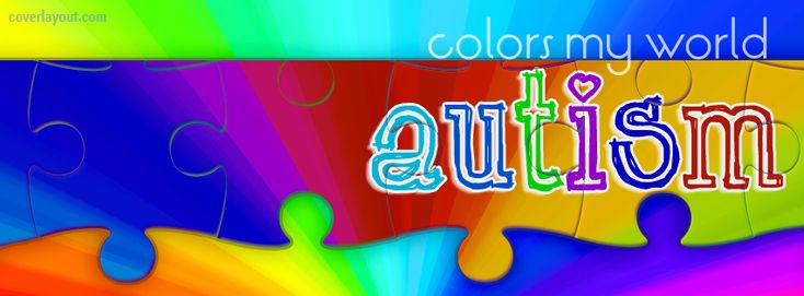 Autism Colors My World Facebook Cover CoverLayout.com