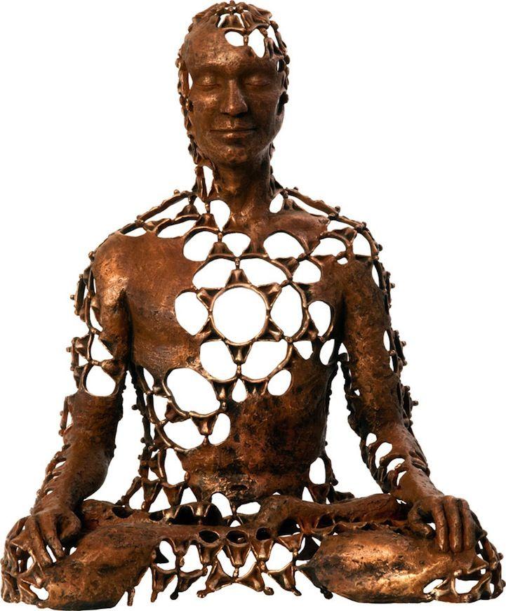 Bronze Figures Use Negative Space to Convey Spiritual Energy - My Modern Metropolis
