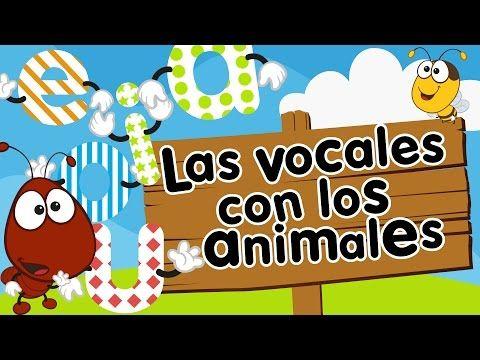 Canción de las vocales AEIOU con animales para niños - YouTube