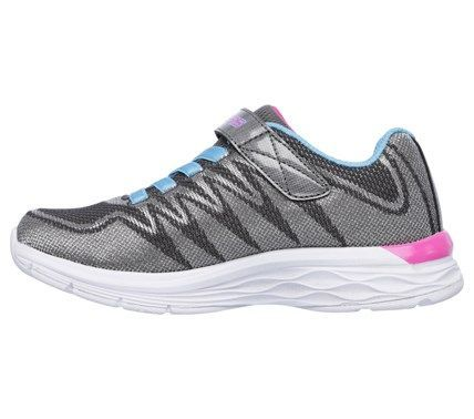 Skechers Kids' Dream N Dash Whimsy Girl Sneaker Pre/Grade School Shoes (Charcoal/Turquoise) - 11.0 M