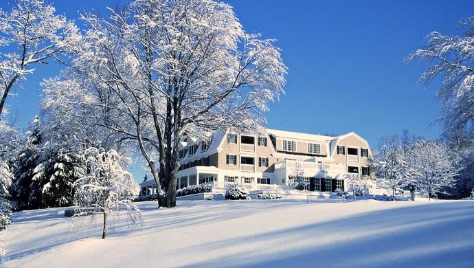 The Mayflower Inn & Spa: The tucked-away property makes for a cozy winter getaway.