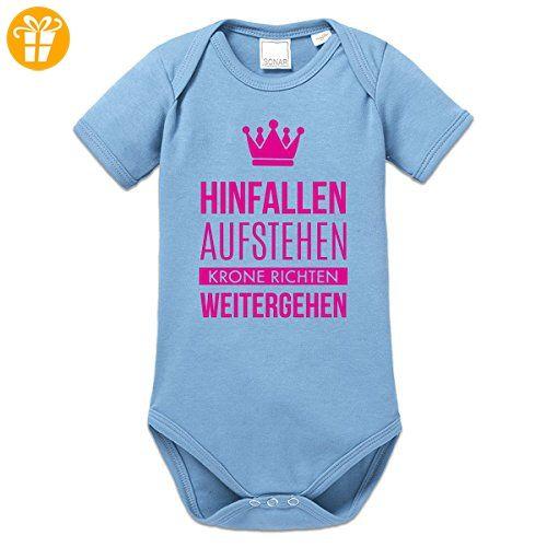 Hinfallen aufstehen Krone richten Baby Strampler by Shirtcity - Shirts mit spruch (*Partner-Link)
