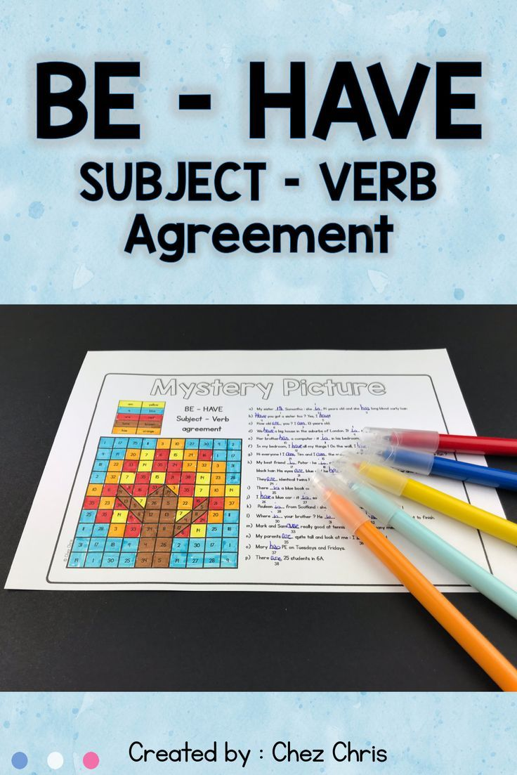 Here Is An Engaging Activity That Your Students Will Love For Sure First They Have To Com Subject And Verb Subject Verb Agreement Activities Mystery Pictures [ 1103 x 736 Pixel ]