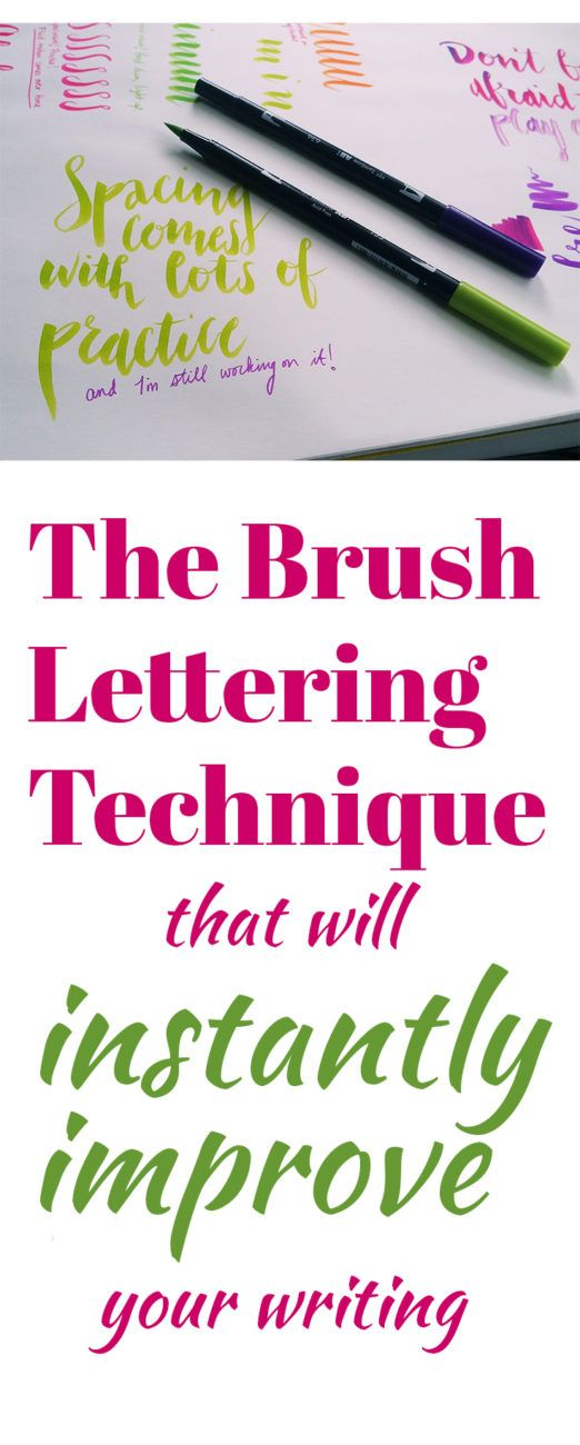In order to really see a definable style emerge as you begin playing with brush pens, you need to master this one brush lettering technique.