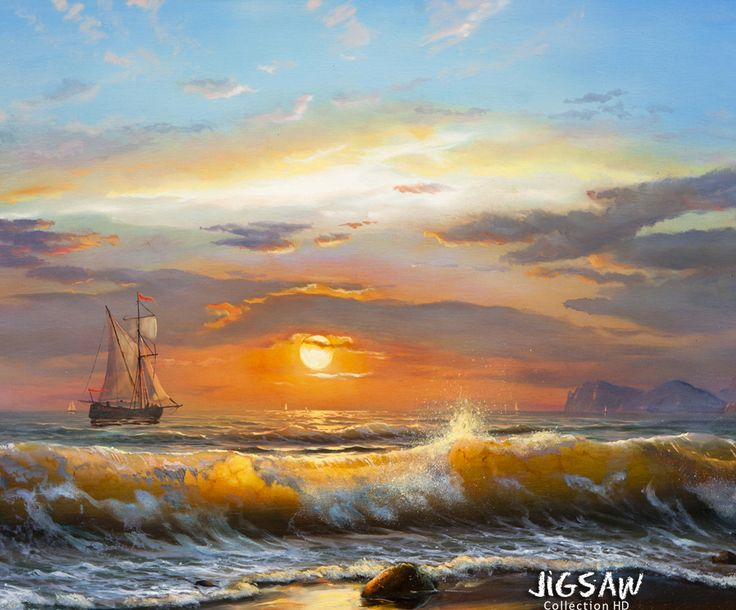 "Embrace the elegant grace of these colorful canvas and enjoy their timeless beauty with our ""Oil Paintings"" jigsaw puzzle pack."