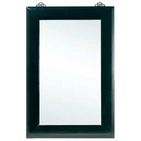 Espejo con marco en laca negra Ancho 100 / Fondo 4 / Alto 150