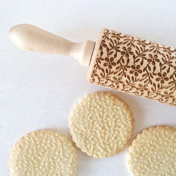 MOTIF de gypsophile gaufrage rouleau à pâtisserie par Texturra