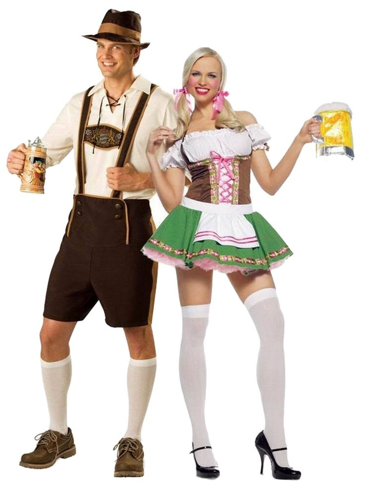 Oktoberfest Beer Couple Bartenders Maid Halloween Costume Party Dress Cosplay  #Unbranded #OktoberfestCoupleSuit