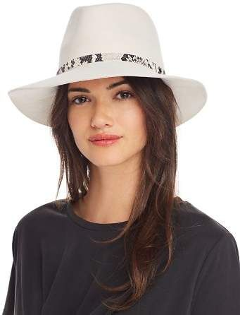 a59d451738d61 Rag   Bone Embossed-Trim Fedora