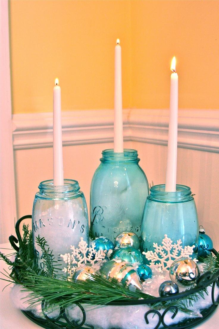 Best images about mason jars centerpices on pinterest