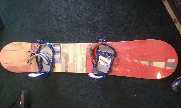 Women's 148 Burton Feel Good Snowboard  + ls ride bindings  #Burton