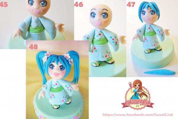 Hatsune Miku Cake Topper Tutorial Tutorial on Cake Central http://www.cakecentral.com/b/tutorial/hatsune-miku-cake-topper-tutorial