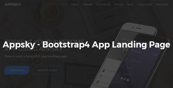Appsky -Bootstrap4 App Landing Page