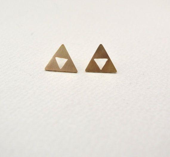 triforce earrings/zelda earrings/minimal by AbyCraft on Etsy