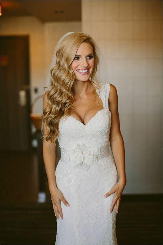 Lace Wedding Veils With Hair Down | www.pixshark.com ...