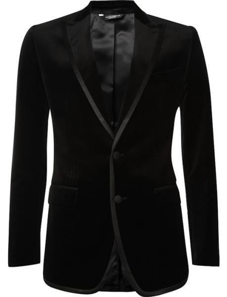 Черный пиджак от габанны