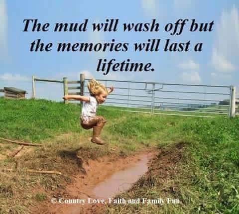 Oh yes!! I can remember making a mud slide into our creek with my brother, so much fun!!!