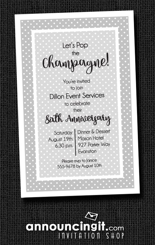 white dots on colorful business party invitations business
