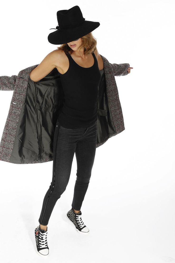 Jeans Mason's donna modello Charlotte nastro con borchie - Masons