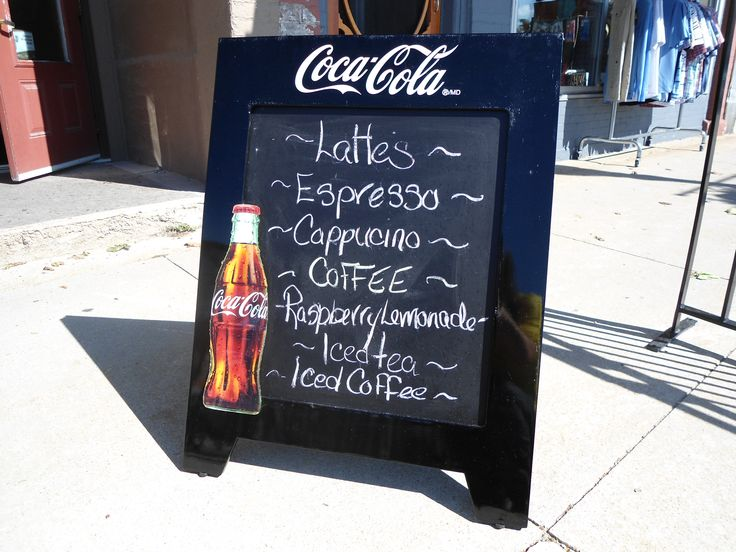 Beverage menu outside The Bistro in downtown Goderich, Ontario.
