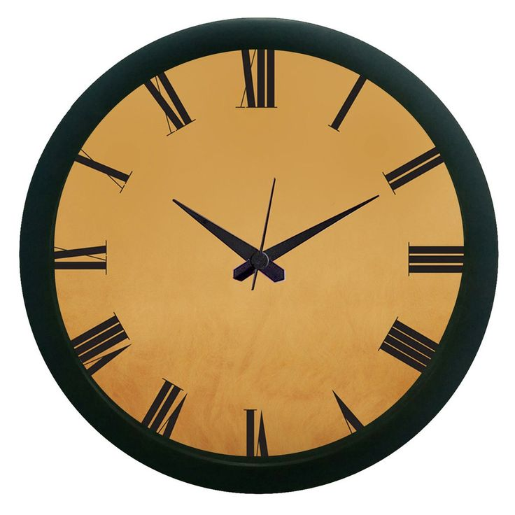 Brown Wall Clock (With Glass)