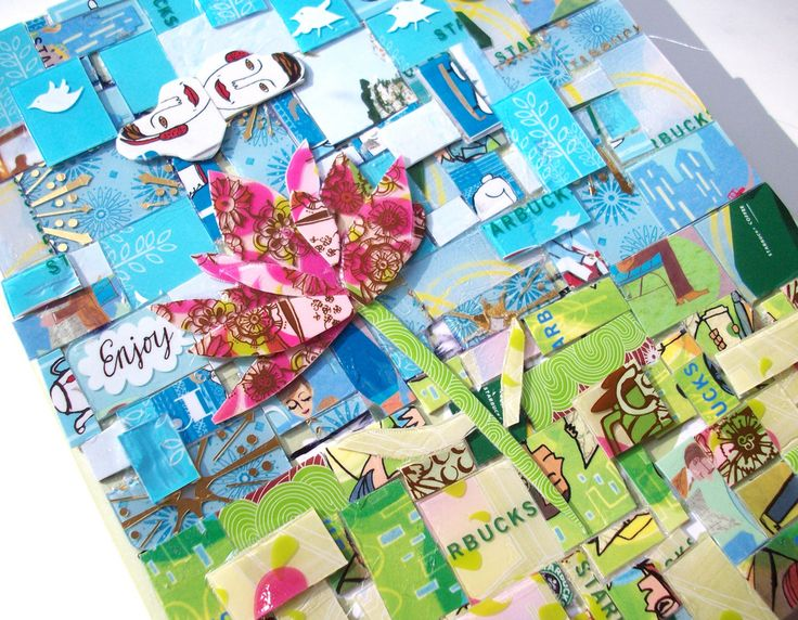 Blank journal with starbucks card mosaic cover b