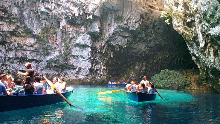 #Melissani #Lake at #Kefalonia, #Greece
