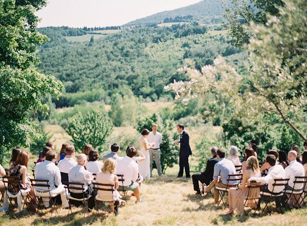 Ceremony perfection http://www.oncewed.com/real-weddings/organic-elegance-tuscan-wedding/