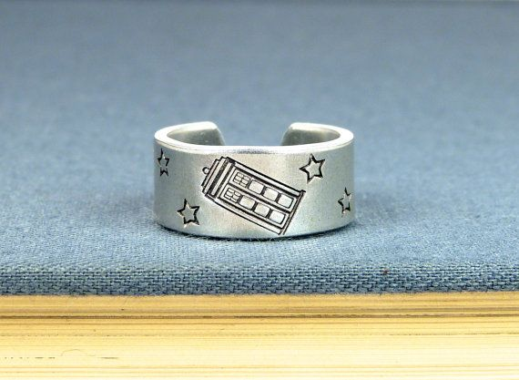 Tardis Ring  Doctor Who  Adjustable Aluminum by fromtheinternet, $10.00
